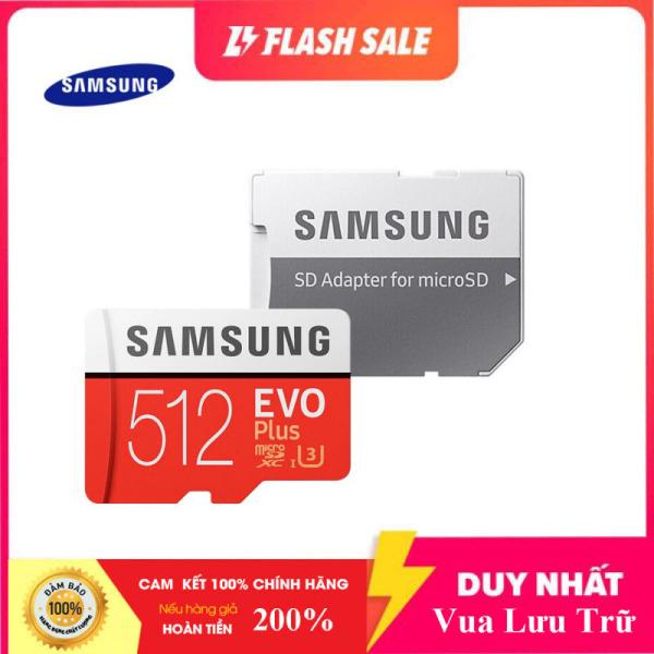 Thẻ nhớ MicroSDXC Samsung Evo Plus 512GB U3 4K R100MB/s W90MB/s - box Anh New 2020 (Đỏ) + Kèm Adapter
