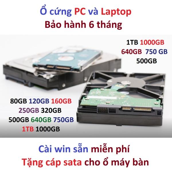 Bảng giá Ổ cứng 500GB 1TB PC máy bàn và laptop HDD 500gb 320gb 250gb 160gb Phong Vũ
