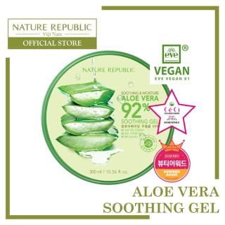 NATURE REPUBLIC Gel dưỡng đa năng Soothing & Moisture Aloe Vera 92% Soothing Gel
