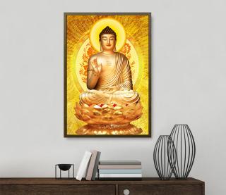 Tranh treo tường phật thích ca mâu ni in trên canvas có khung, trang trí phòng khách, phòng ngủ ( 10129799) thumbnail