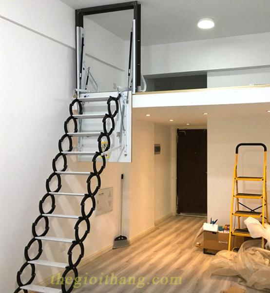 Thang gác xép cửa đứng, xếp gọn thông minh chính hãng NIKITA 2021