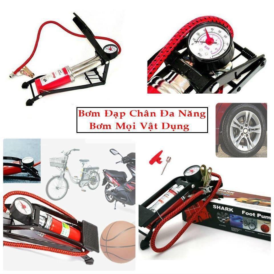Bơm đạp chân mini dùng cho xe đạp, xe máy, ô tô - 3