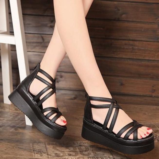 Giày Sandal đế xuồng phong cách Hàn Quốc - SS011 giá rẻ