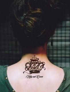 Hình xăm dán tatoo vương miện nữ hoàng kích thước 15 x 21 cm - miếng dán hình xăm đẹp dành cho nữ thumbnail
