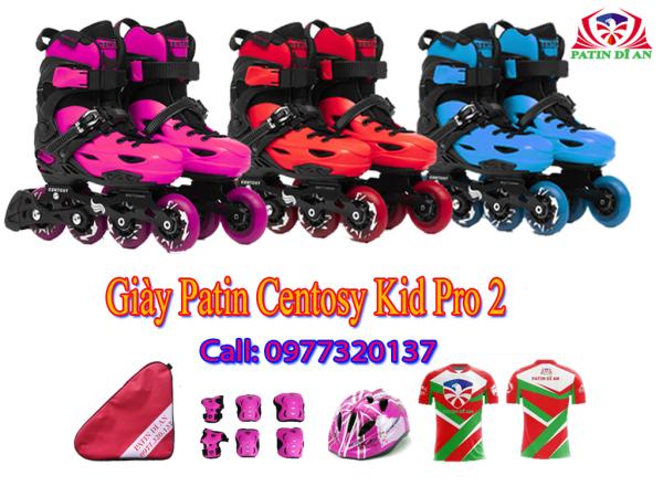 Mua Giày Patin Trẻ Em Cao Cấp, Giày Patin Centosy Kid Pro 2 ( 3 màu ) Chính Hãng Kèm Quà Tặng Bảo hộ V5+balo+vớ Nike cao cổ Chính Hãng