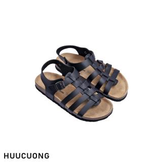 Sandal HuuCuong chiến binh đen đế trấu thumbnail