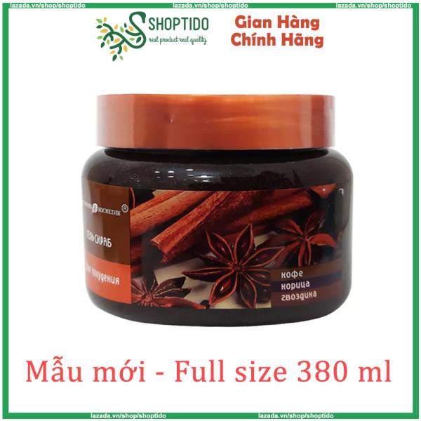 Tẩy da chết chiết suất quế hồi và cafe, cam chanh đào làm săn chắc làn da Nga 380ML