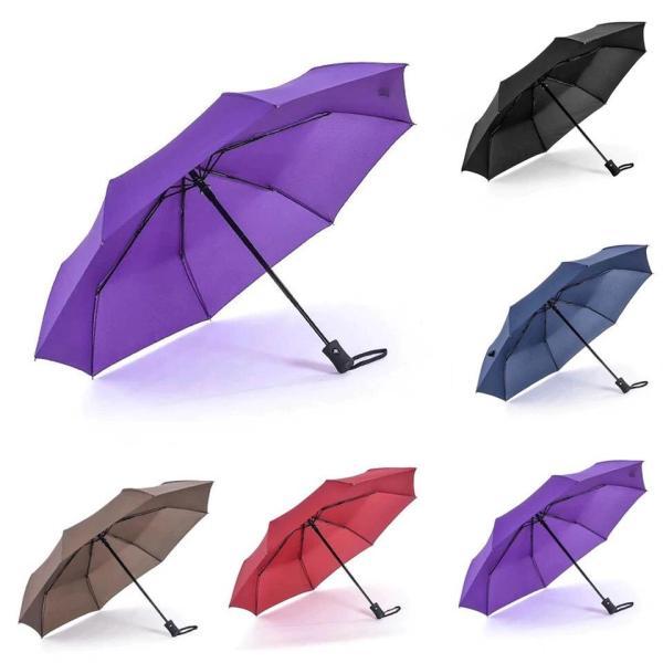 Ô đi mưa cá nhân đóng mở tự động 2 chiều (màu tím) đường kính 105 cm shopaha247