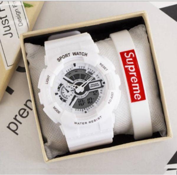 Nơi bán Đồng hồ điện tử nam nữ Shhors điện tử dây cao su chống nước chống (tặng Hộp và Pin )