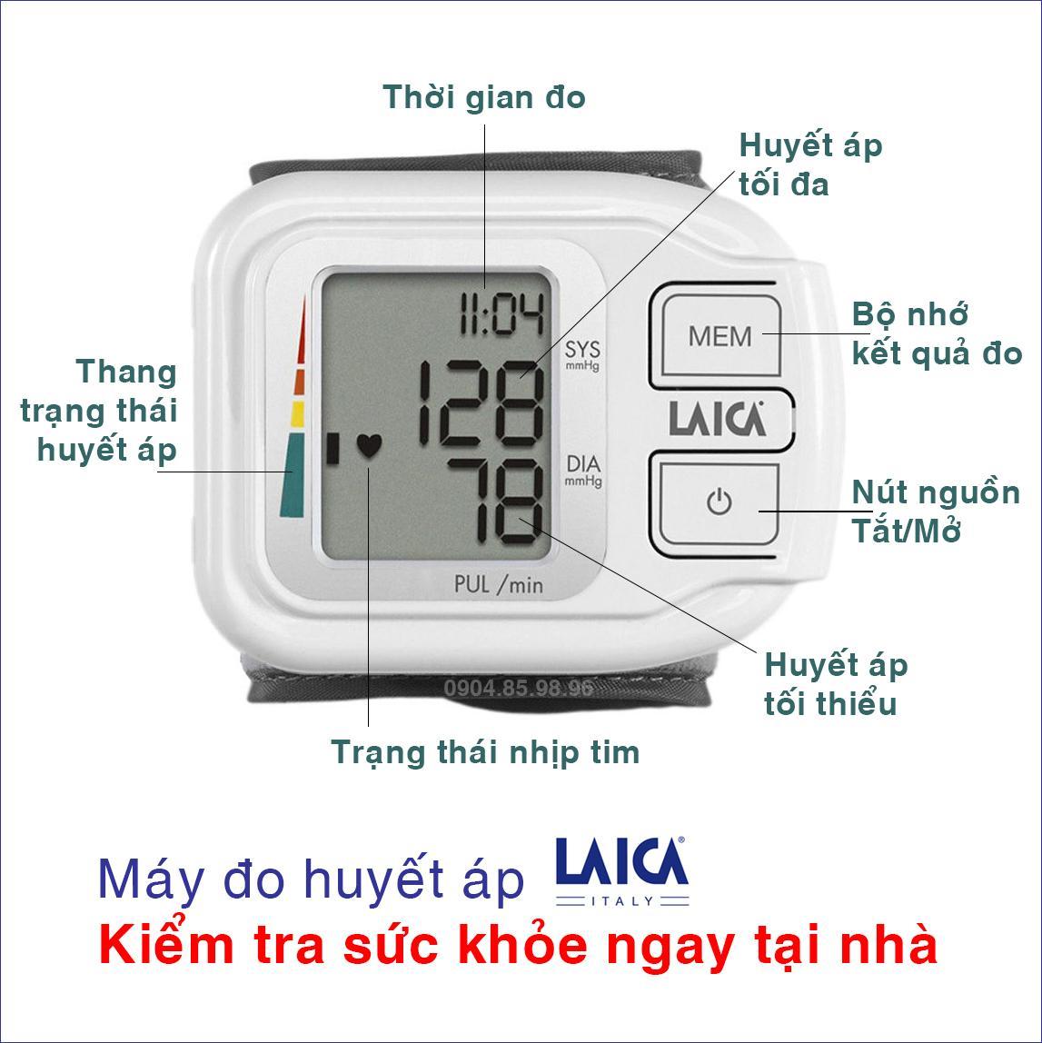 Máy đo huyết áp điện tử cổ tay LAICA BM1004 (Thương hiệu Ý)