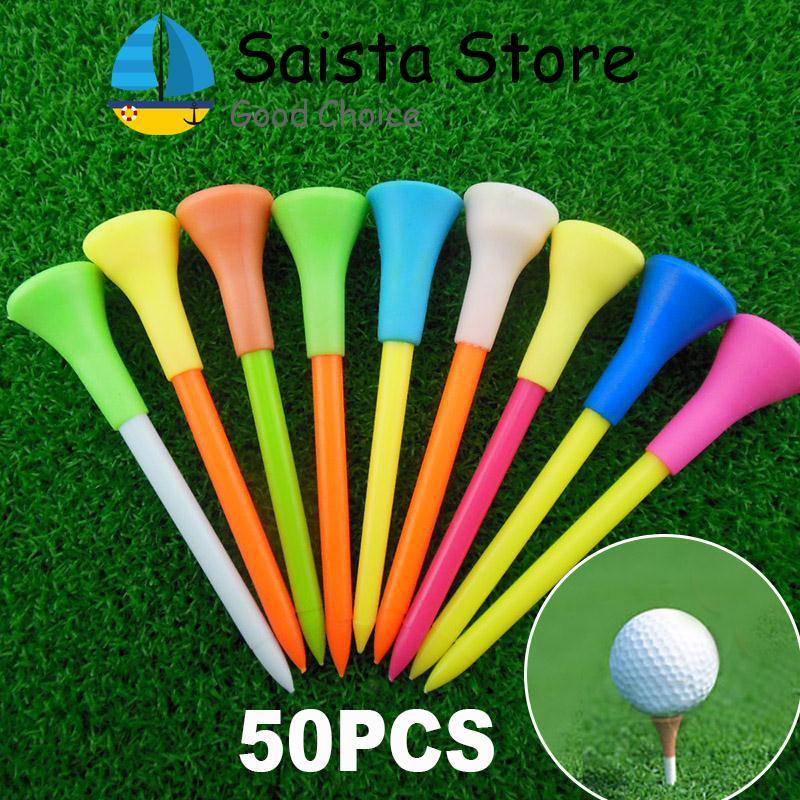 Mới 50 cái 85 mét Nhựa Golf Tee Golf Cao Su Đệm Đầu Thiết Bị Phụ Kiện-quốc tế-quốc tế - 1