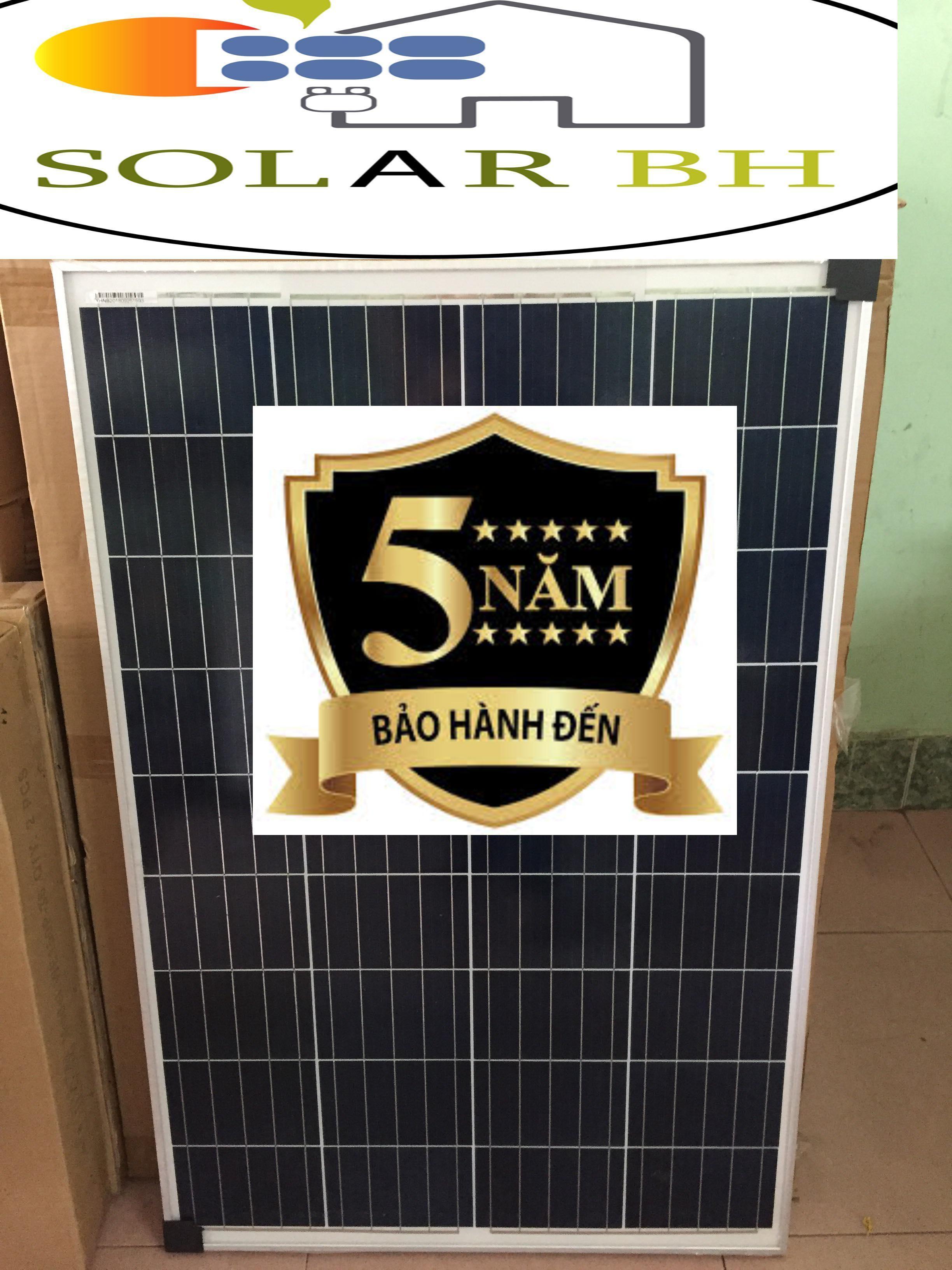 tấm pin năng lượng mặt trời POLY 50w TẶNG  2 đầu gim điện MC4