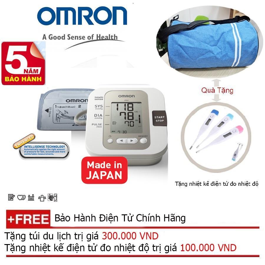 Máy đo huyết áp bắp tay Omron JPN1 (Made in Japan) BH 5 năm chính hãng + Quà tặng balo du lịch bán chạy