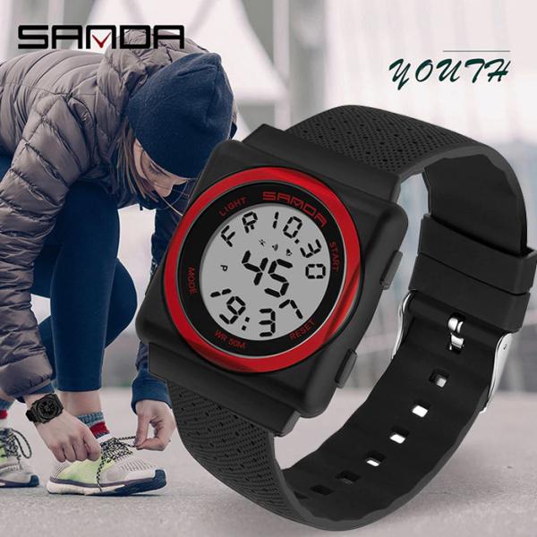 Đồng hồ Nữ Nam Unisex thể thao SANDA JAPAN, Kiểu Dáng Apple Watch, Thương hiệu Nhật, Siêu Chống Nước bán chạy