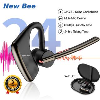 New Bee M50 Tai nghe Bluetooth Tai nghe khử tiếng ồn Giảm tiếng ồn chủ động cho cuộc gọi MIC kép Bluetooth 5.2 thời gian nói chuyện 24 giờ dành cho Người kinh doanh tài xế Bluetooth Headset Noise Cancelling Headset thumbnail