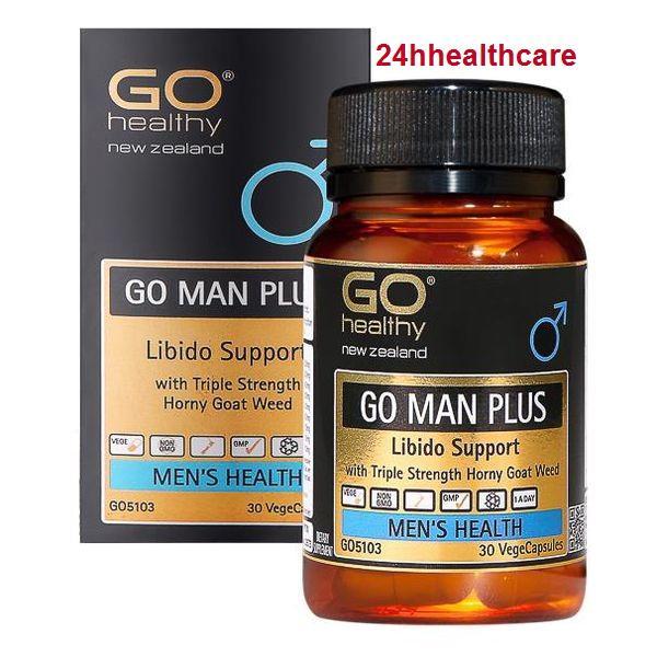 [HÀNG CHUẨN] Bổ thận nam GO Man Plus, tăng cường sinh lực, tăng khả năng sinh lý, cải thiện và làm chậm quá trình mãn dục nam
