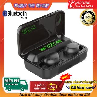 Tai Nghe Bluetooth Không Dây 5.0 Amoi F95-Tai nghe bluetooth có đèn LED-Pin Trâu -Chống Nước - Chống ồn - Tích Hợp Micro - Tự Động Kết Nối - Nhỏ gọn - Âm Thanh 8.0 HD - Tương Thích Cao Cho Tất Cả Điện Thoại thumbnail