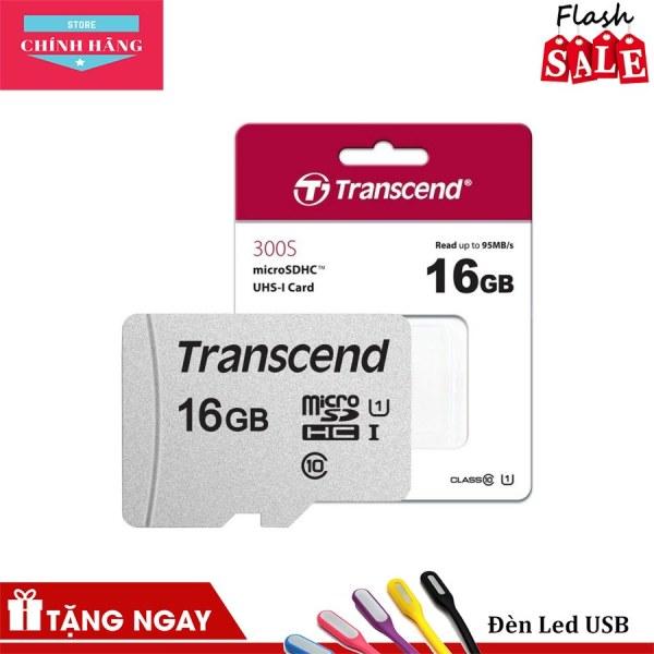 Thẻ nhớ microSDHC Transcend 16GB 300S tốc độ upto 95MB/s - Bảo Hành 3 Năm