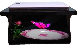 [HCM]Máy Chiếu 3D Hologram 180 độ dành cho điện thoại di động 3.5-6 inch thumbnail