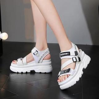 (Video 2 màu) Sandal nữ,sandal học sinh độn đế 5p fashion kiểu dáng mới siêu đẹp 2