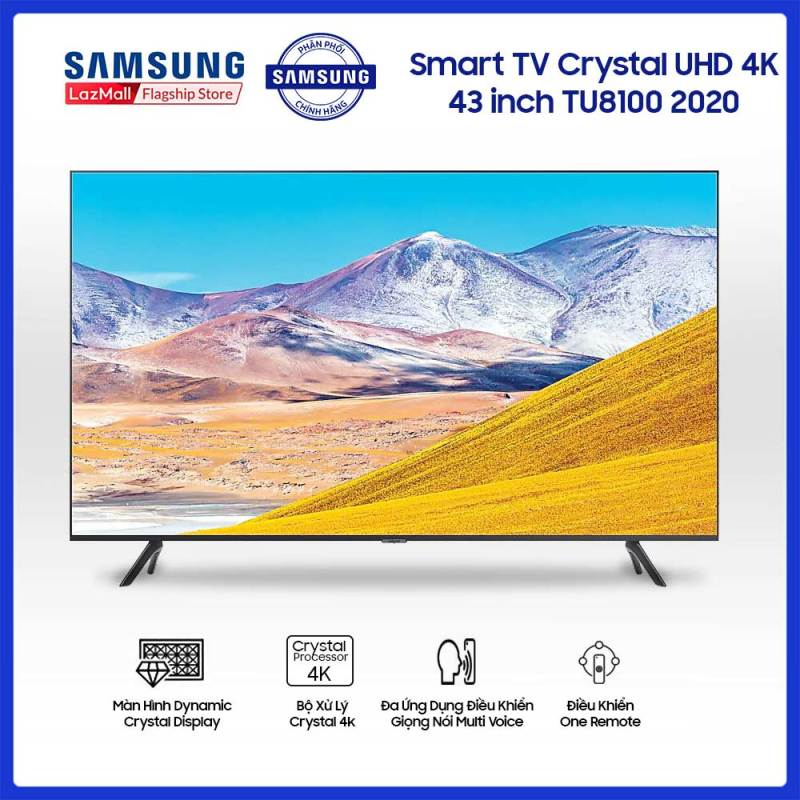 Smart TV Samsung Crystal UHD 4K 43 inch TU8100 2020 chính hãng