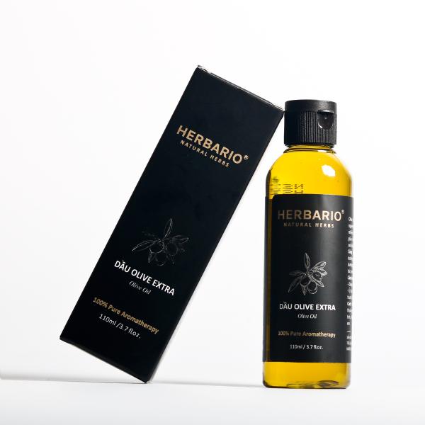 Dầu olive ( oliu) extra virgin Herbario 110ml ép lạnh nguyên chất, dưỡng da, tóc, môi giá rẻ