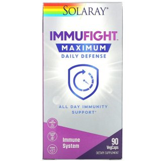 Hỗ-trợ miễn-dịch, Solaray, ImmuFight, Maximum Daily Defense, 90 VegCaps thumbnail