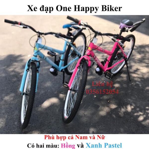Mua Xe đạp thể thao đường phố ONE HAPPY BIKER màu Hồng và Xanh Pastel - DOHANGNHAMEI