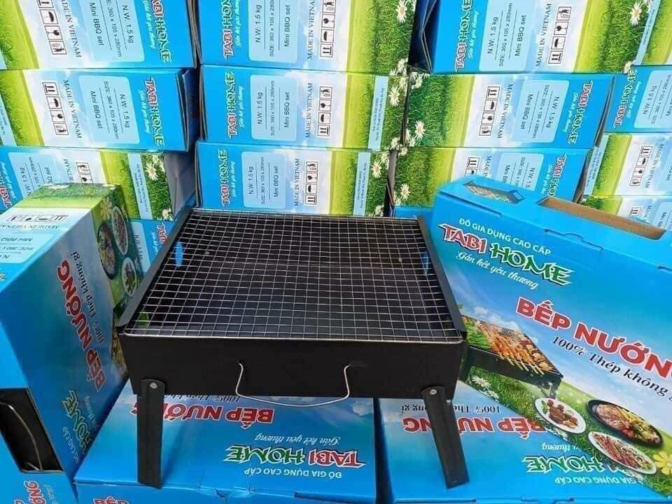 Bếp nướng than hoa vuông #115k Kích thước: 36*28*10,5 cm. Tabihome 100% thép không gỉ, giúp nướng đồ ăn nhanh, đơn giản và tiện lợi dễ dàng ngay tại nhà. Đi giã ngoại..