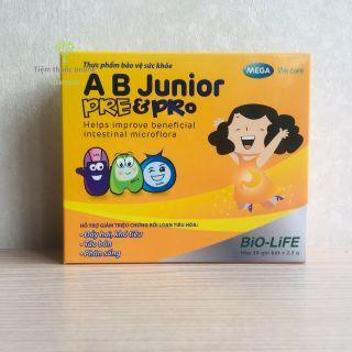 Men vi sinh A B Junior Pre&Pro Hỗ trợ giảm táo bón, khó tiêu, chướng bụng (30 gói) thumbnail