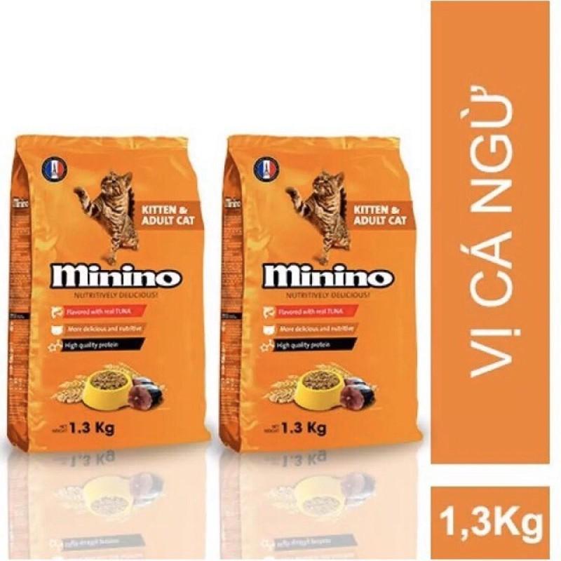 [HCM]MININO (Vị hải sản & cá ngừ) gói 13kg và 15kg Thức ăn viên cao cấp cho mèo dùng cho mèo mọi lứa tuổi (hạt mèo khô)