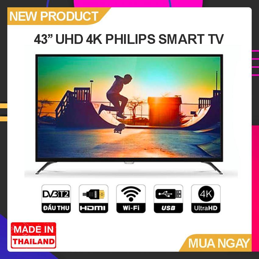 Bảng giá Smart Tivi Philips 43 inch UHD 4K - Model 43PUT6002/67 (Đen) - Bảo Hành 2 Năm