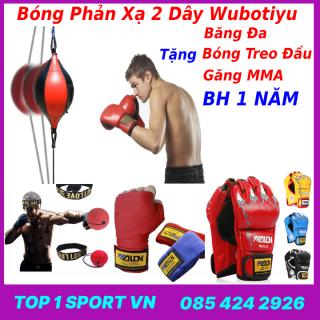 Bóng Đấm Phản Xạ Wobutiyu + Găng Tay MMA Walon + Băng đa + Bóng treo đầu - Thiết bị tập đấm bốc phản xạ dành cho dân chuyên thumbnail