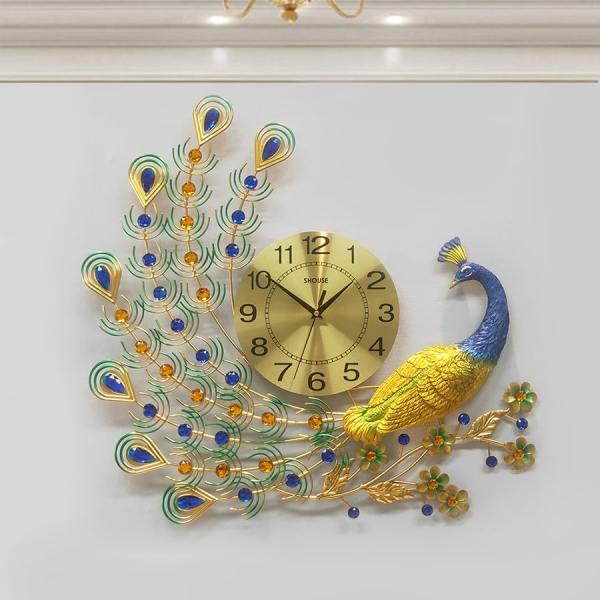 Đồng hồ treo tường con chim công A22 thương hiệu Việt Nam chính hãng kim trôi hiện đại cao cấp nghệ thuật không gây tiếng động SEENSI bán chạy