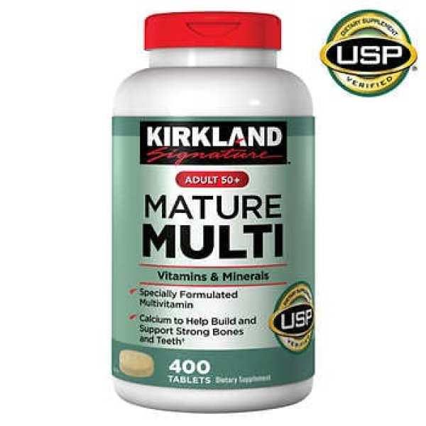 Viên uống vitamin trên 50 tuổi Kirkland Signature Adult 50+ Mature Multi Vitamins & Minerals, 400 Tablets cao cấp