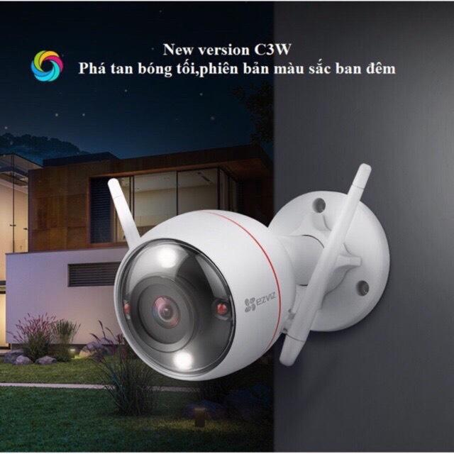 Camera IP wifi ngoài trời Full color có màu ban đêm,tích hợp đèn và còi cảnh báo EZVIZ CS-CV310-A0-3C2WFRL(2.0MP-1080p)