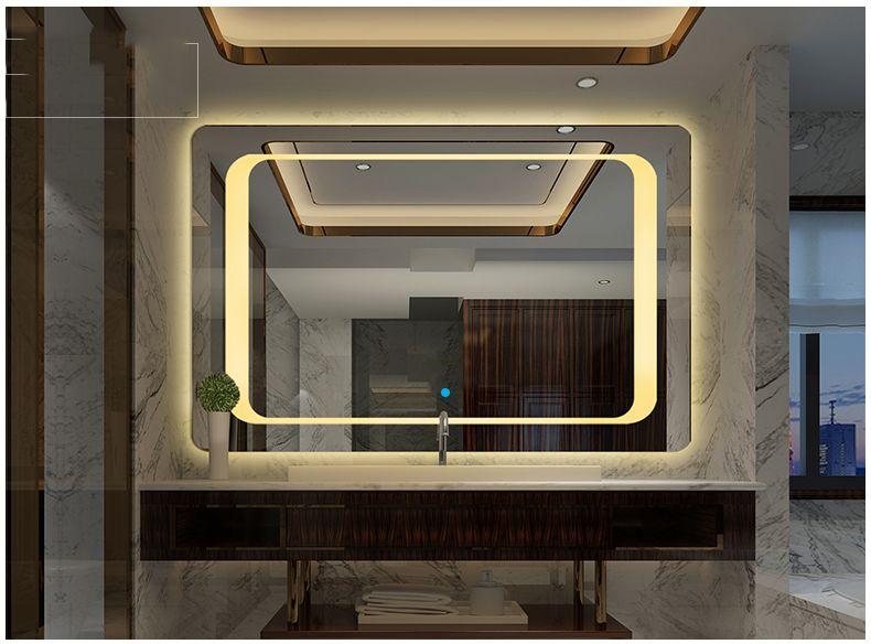 Gương đèn led phòng tắm SMHome N600x800 (Tích hợp đèn led và công tắc cảm ứng trên gương - Gương ngang 600mm X 800mm) giá rẻ