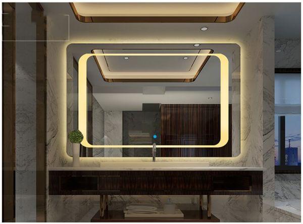 Gương đèn led phòng tắm SMHome N500x700 (Tích hợp đèn led và công tắc cảm ứng trên gương - Gương ngang 500mm X 700mm)