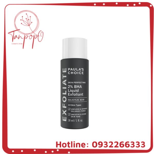 Dung dịch loại bỏ tế bào chết Paula's Choice Skin Perfecting 2% BHA Liquid Exfoliant 30 ml 2016