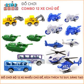Combo 12 xe đồ chơi cho bé, đồ chơi thông minh kích thích trí não, tư duy, chất liệu nhựa PVC an toàn đối với trẻ nhỏ thumbnail