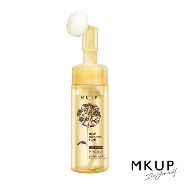 Sữa rửa mặt MKUP  tạo bọt ngăn ngừa mụn, kiểm soát bã nhờn chiết xuất hoa cúc Calendula Extract Sebum Control 150ml