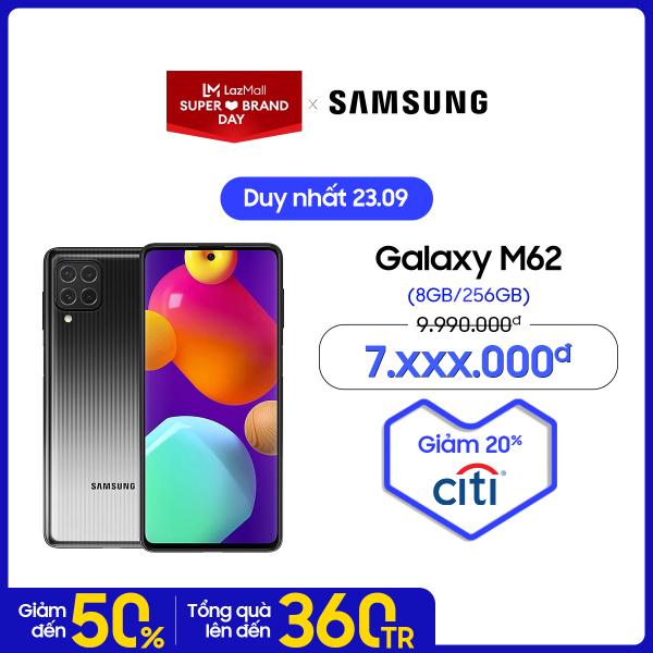 [SIÊU SALE 23.9] Điện thoại Samsung Galaxy M62 - Siêu pin 7.000mAH lớn nhất trên điện thoại Galaxy - Bảo hành chính hãng 12 tháng chính hãng
