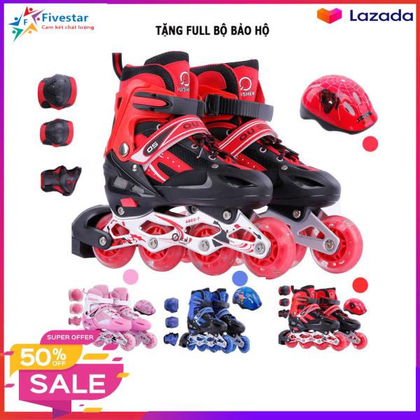 Giá bán Giày trượt patin, giày trượt patin trẻ em, Tặng Kèm Bộ Bảo Hộ (Mũ Bảo HIểm và Bảo Vệ Tay Chân) BH 12 tháng