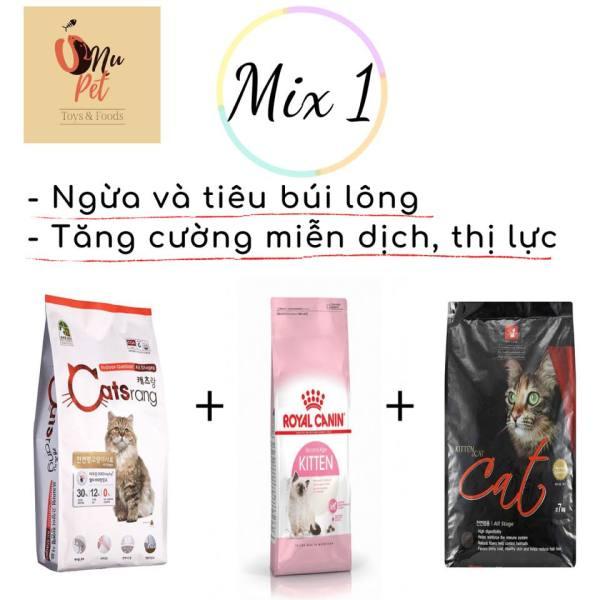 Thức ăn hạt mix cho mèo - 1kg