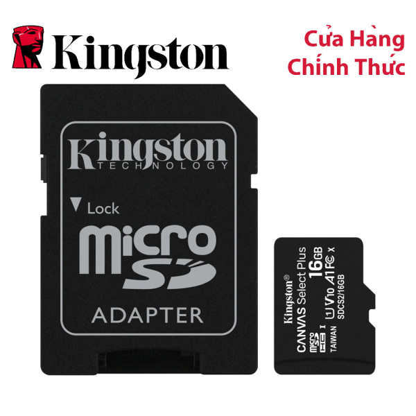 Thẻ nhớ MicroSDHC Kingston Canvas Select Plus 16GB Class 10 U1 (SDCS2/16GB)