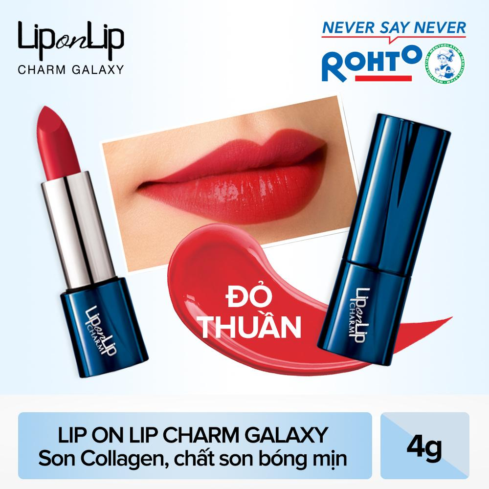 Son thỏi Lip On Lip Charm Galaxy Edition Scarlet Red 4g (Đỏ Thuần)
