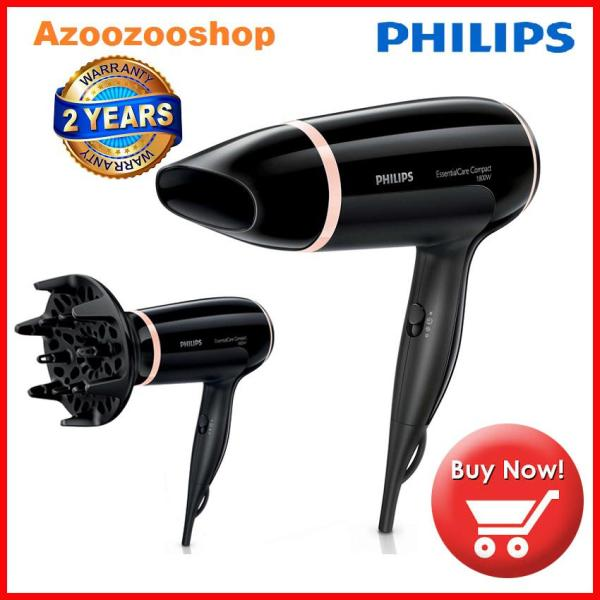 Máy sấy tóc Philips BHD004, Sấy khô tóc mạnh mẽ và chăm sóc tóc, 1800 W, Chế độ ThermoProtect, 3 cài đặt nhiệt và tốc độ, Đầu tán khí tạo kiểu tóc dày nhập khẩu