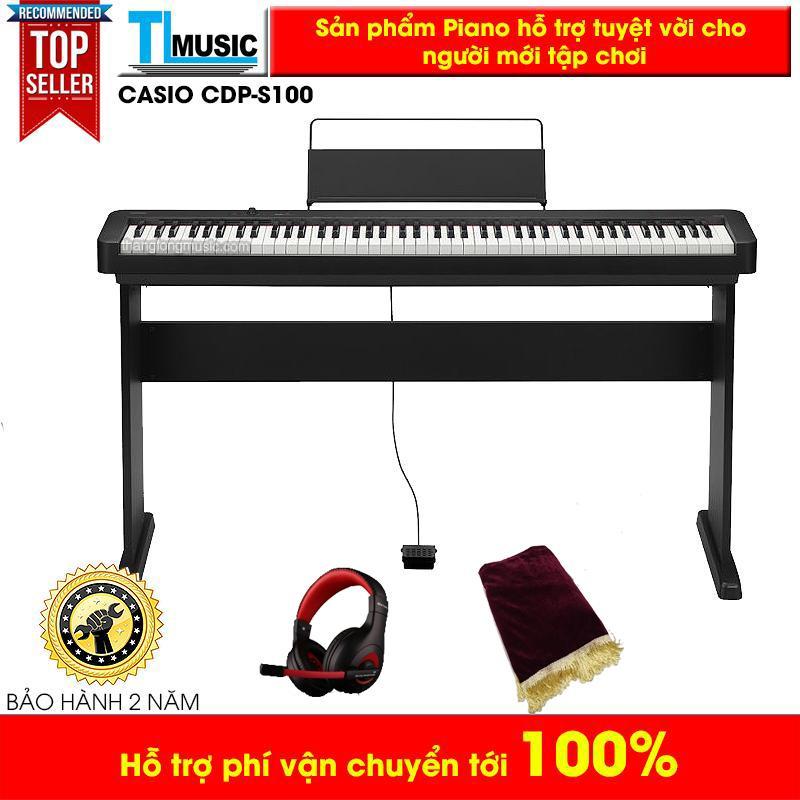Piano điện (Digital Piano) Casio CDP S100 (CDPS100) kèm khăn phủ + Headphone Ovann
