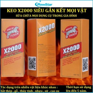 [Giá Rẻ Vô Địch ]Keo dán X2000 Siêu gắn kết dán tất cả các vật liệu keo dán gỗ, Kính, nhựa, thủy tinh, kim loại, gốm sứ, dán đế giày...Keo dán đa năng,keo dán siêu dính X2000 thumbnail
