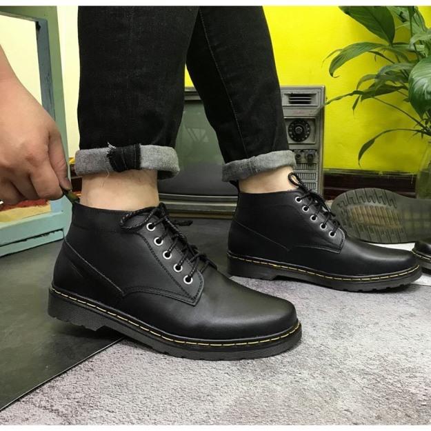 Giày Boot nam Giày Doctor Nam Cổ Lửng DySeven Đẳng Cấp Định Phong Cách giá rẻ